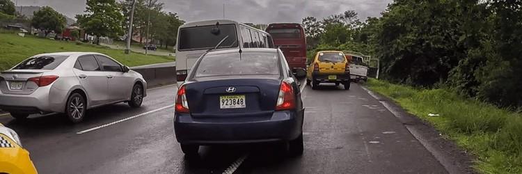 Bicycle touring panama traffic