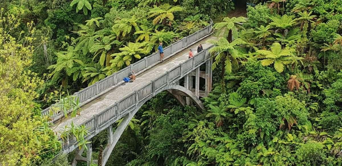 Bridge to nowhere on the whanganui river canoe trip
