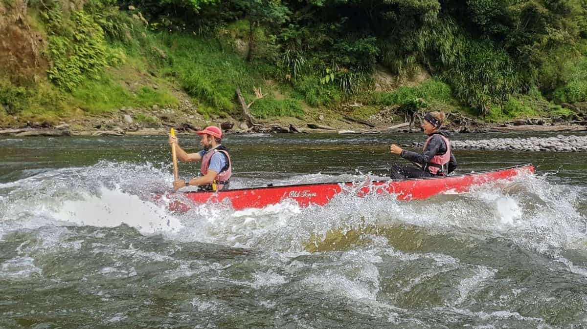 Are the white water rapids on whanganui river difficult