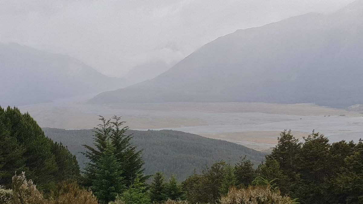 miserable weather at Arthurs Pass