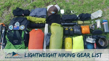 Lightweight Hiking Gear List