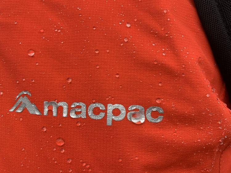 Rain jacket with quality DWR coating
