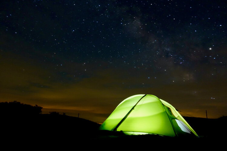 Gear Testing tents under the stars